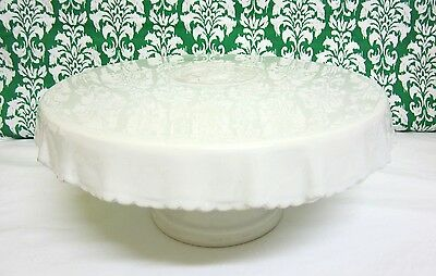 2 x LARGE Ceramic White Cake Stand Cupcake stand Lolly Buffet Birthday Cake