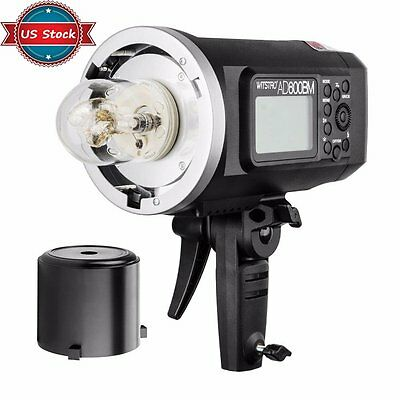 US Godox AD600BM 1/8000s 2.4G Portable Outdoor Strobe Flash Light Bowens Mount