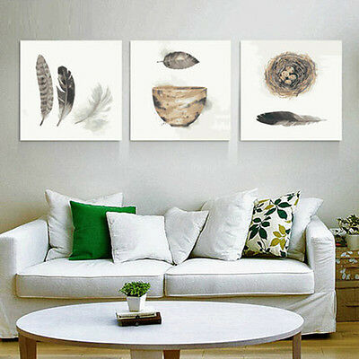 Feather Bird's Net & Bowl DIY Number Painting Wall Paint TV Background Home Deco