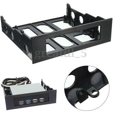 3.5'' to 5.25'' Drive Bay Computer Case Adapter Mounting Bracket USB Hub Floppy