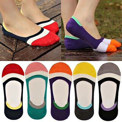 7 Pairs Women's Cute Non-Slip Boat Loafer Cotton Invisible Low Cut No Show Socks