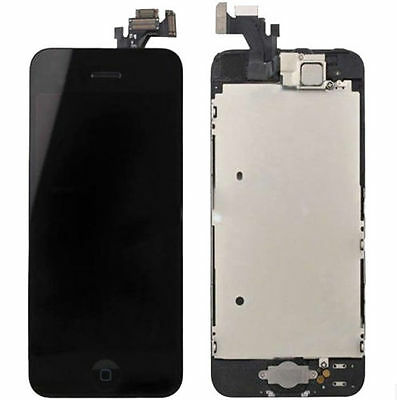 iPhone 5 Black LCD Touch Digitizer Glass Screen Full Assembly Home Button Camera