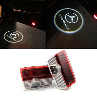 2x LED Car Laser Projector Ghost Shadow Door Welcome Lights For Mercedes Benz Uk