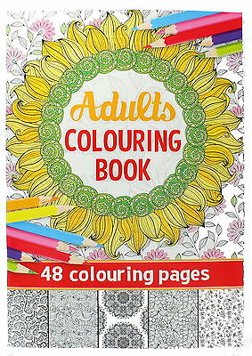 Adult Colouring Book with Creative Anti-Stress Art Therapy Patterns (R)