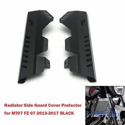 Radiator Grille Side Guard Cover Protector for Yamaha MT07 FZ 07 2013-16 BLACK