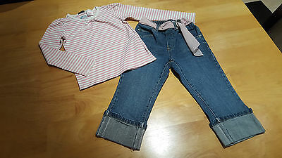 GAP Girls Clothes 2 Piece Outfit Top & Crop Jeans Age 5 Years