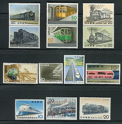 Japan 1956/77 Trains/locomotive/railways/tunnels/express Train/tokyo Subway Mnh