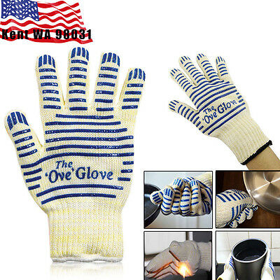 US STOCK - 2PCS Ove Glove Resistance Surface Handler Oven Firefight Kitchen Tool