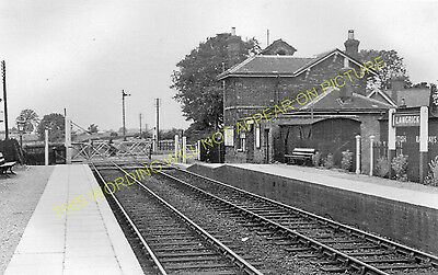 Langrick Railway Station Photo. Boston - Dogdyke. Woodhall Line. GNR. (1)