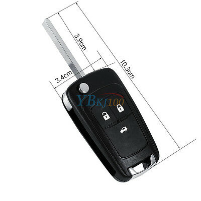 Replacement 3 Button Remote Fob Key Case Shell For Vauxhall Opel Zafira Insignia