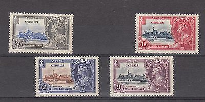 Stamps  -  George  V  -  4  Mint  Cyprus  Silver  Jubilee  Stamps  -  1935