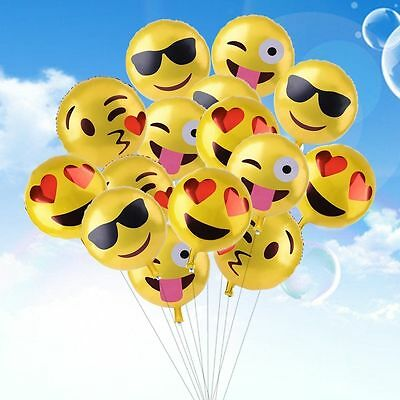 18'' Emoji Emotion Foil Balloons Inflatable Birthday Wedding Party Decoration