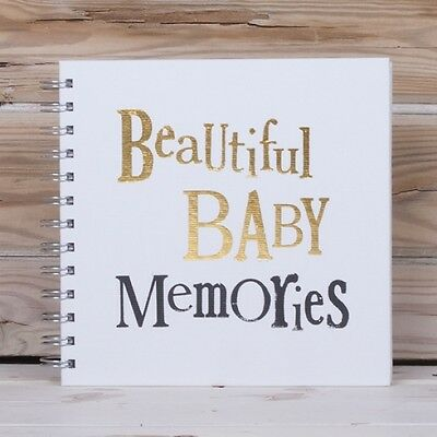The Bright Side'Beautiful Baby Memories'Baby Gift Record Scrapbook Album Book BN