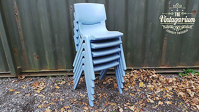 1 x Stacking Stackable Junior School Cafe Diner Tattoo Barber Shop Chairs Chair