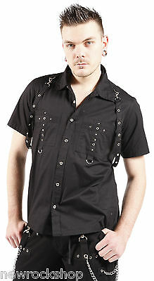 New Dead Threads Shirt  Black Studs Men Metal Punk Emo Rock