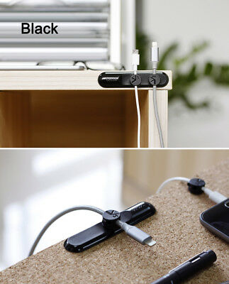NEW Tup Data Cord Organizer 3 Magnetic Button Multipurpose Desktop Cable Clip