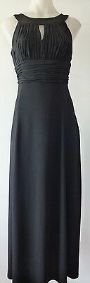 Long evening formal dress party black ball gown bridesmaid dress size 10 - 18