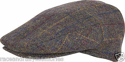 fcb1406a463 Traditional Country Style Wool Blend Tweed Cloth Unisex Hat Peaked Flat Cap