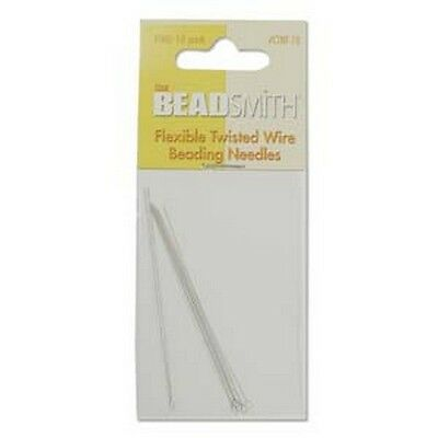 Beadsmtih Flexible Twisted Wire Beading Needles - Fine - 10 Needle