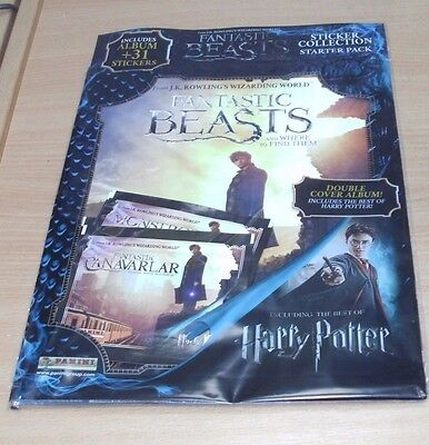 Panini Harry Potter Fantastic Beasts Collection Album Starter Pack + 31 Stickers