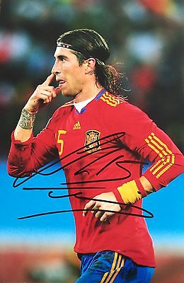 Sergio Ramos Personally Signed Photo, Spain, Real Madrid, Proof Shown, 2