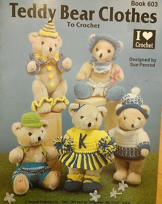 Teddy Bear Clothes to Crochet Pattern Booklet