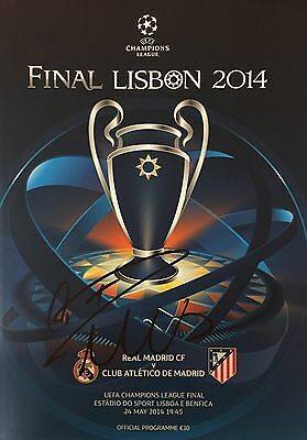 Cristiano Ronaldo Personally Signed CL Final Programme, Real Madrid, Proof, 1