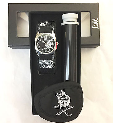 Kids Pirate Design Watch Patch & Binocular Jewwelery Gift Set Birthday Present