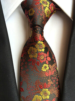 184KT luxury mens 100% silk neck tie floral flowers wedding party prom gift ties