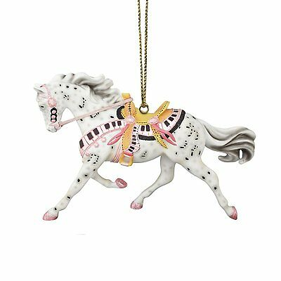 TRAIL OF PAINTED PONIES - Tickled Pink - Horse Christmas Ornament - Resin