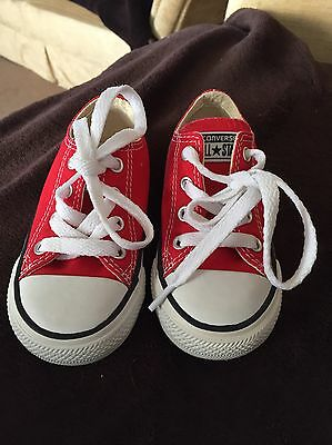 Red Converse All Star - UK Infant 6 - GENUINE !!!