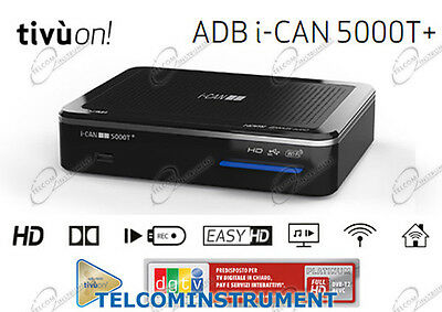 Ricevitore I-CAN 5000T Plus HD Wireless DVB-T2 MHP PVR Infinity TV Premium PLAY