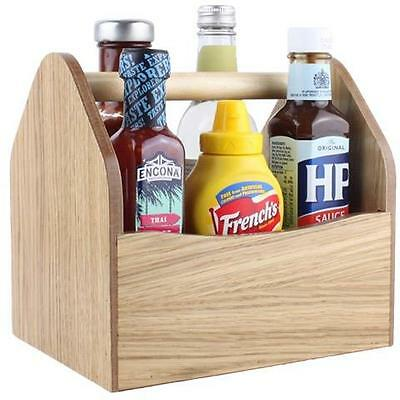 Large Wooden Condiment Holder CH13