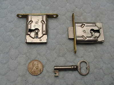 Door Cabinet Drawer Locks NOS National Lock Co. Vintage Pair