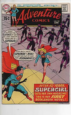Adventure Comics #381 Vf 1969 1St Solo Supergirl Story! Neal Adams Tv Show