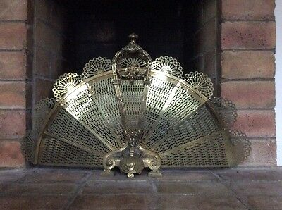 Antique French Fireplace Fan - Late 19Th Century