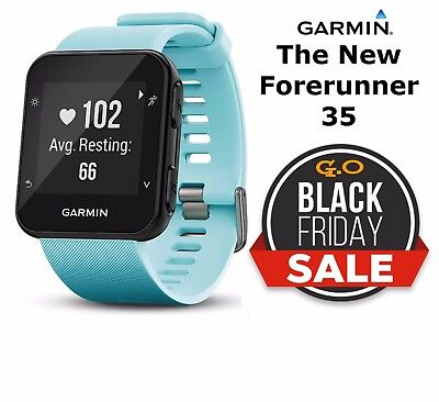 Garmin Forerunner 35 GPS Watch Blue Smartwatch HRM Heart Rate Monitor Sport