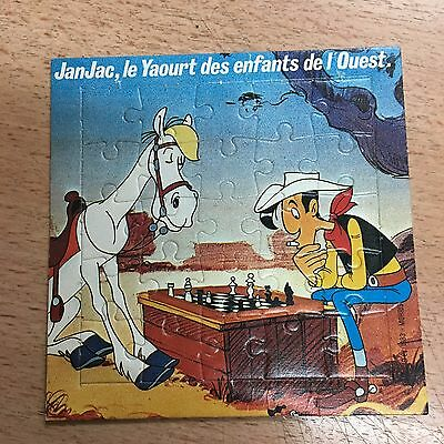 collector Puzzle publicitaire Lucky Luke Yaourt JanJac  Dargaud Morris 1983 n°4