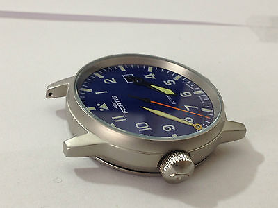 Fortis Flieger Gents Complete Watch Case,blue Dial,with Auto Rotor