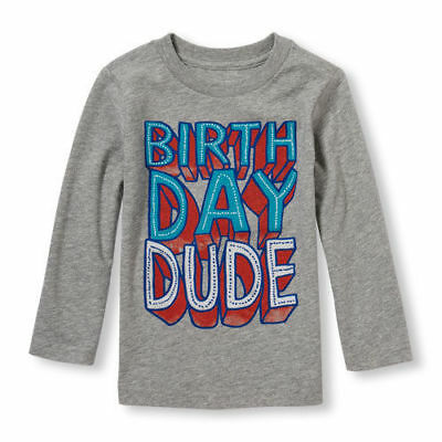 Children's Place Infant & Toddler Boys T-Shirt Varous Sizes NWT Birthday Dude