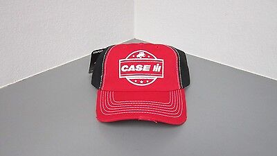 Case IH Youth Red/Black 5 Star Distressed Hat