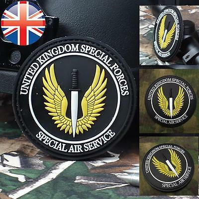 *UK Seller* Velcro 3D SAS Special Air Service PVC Badge Patch Velcro UK Force