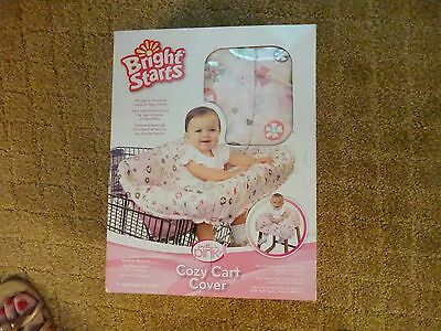 New Bright Starts Pretty In Pink Cozy Shopping Cart/high Chair Cover