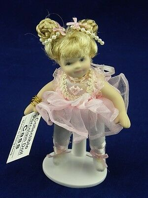 "Show Stoppers 5"" Cass Ballerina Porcelain Collectible Doll Ornament A137 Pink"