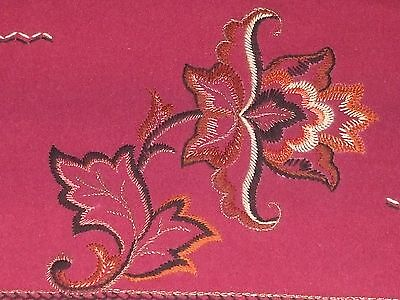Beautiful Hand-embroidered Wool fabric