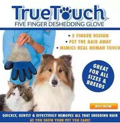 True Touch Deshedding Glove Gentle And Efficient Pet Dog Cat Animal Grooming RH