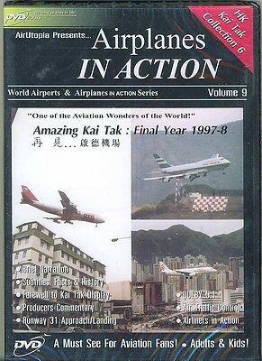 Airplanes in Action. Hong Kong Kai Tak Collection 6. Volume 9 DVD.New & Sealed
