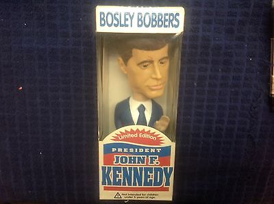2001 John F. Kennedy 35TH. PRESIDENT BOSLEY BOBBERS LIMITED EDITION BOBBLE HEAD