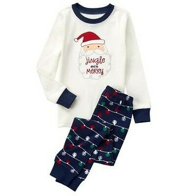 NWT Gymboree Christmas Santa Jingle Lights Gymmies Sleep Set Pajamas 5 6 7 8 10
