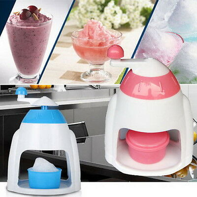 Summer Ice Candy Crusher Shaver Snow Cone Maker Manual Machine Home Kitchen ON
